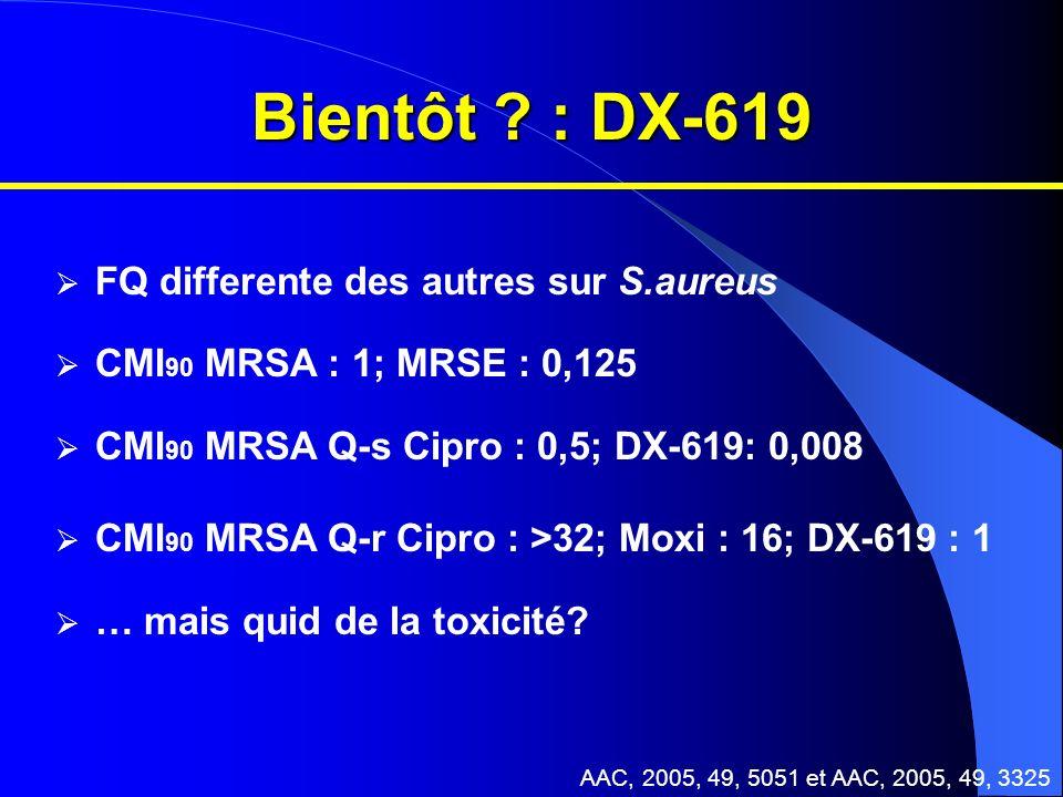 Bientôt : DX-619 FQ differente des autres sur S.aureus