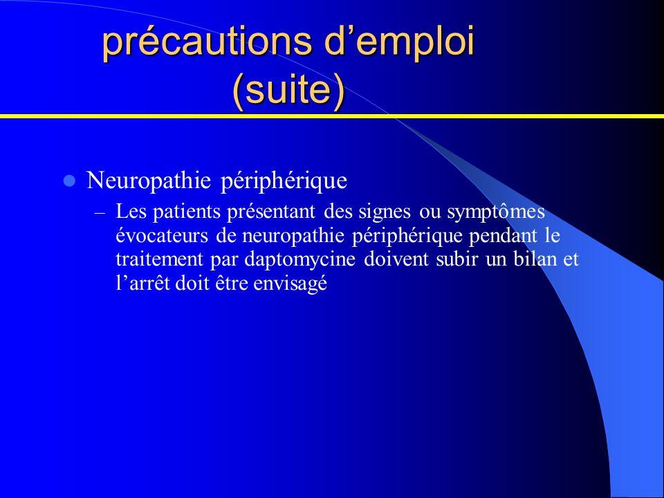 précautions d'emploi (suite)