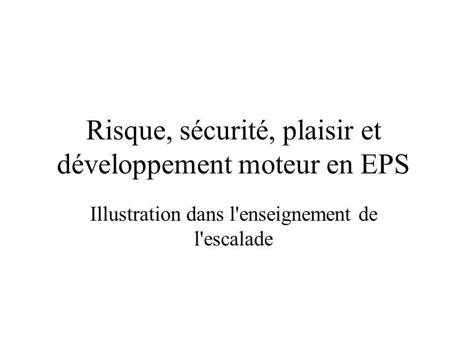 Risque, sécurité, plaisir et développement moteur en EPS