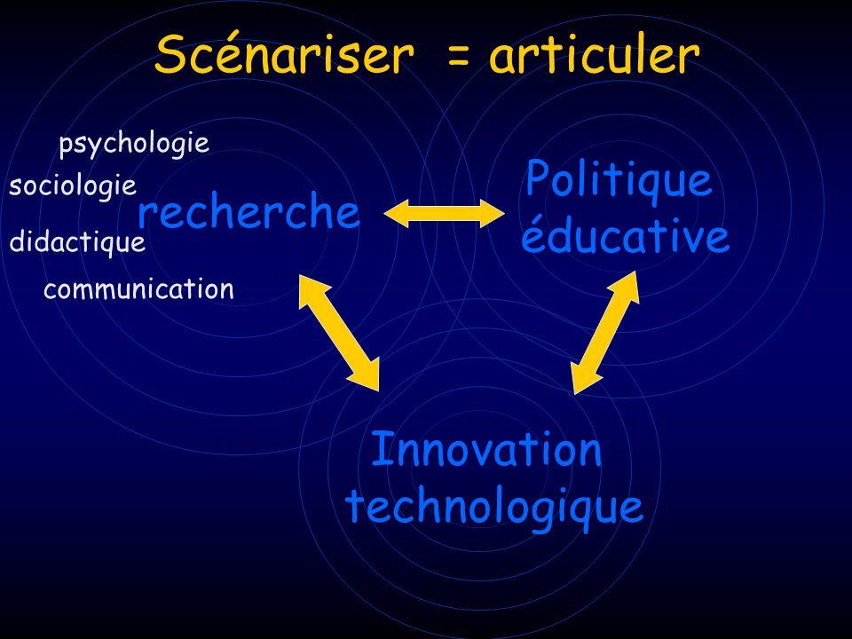 Scénariser = articuler