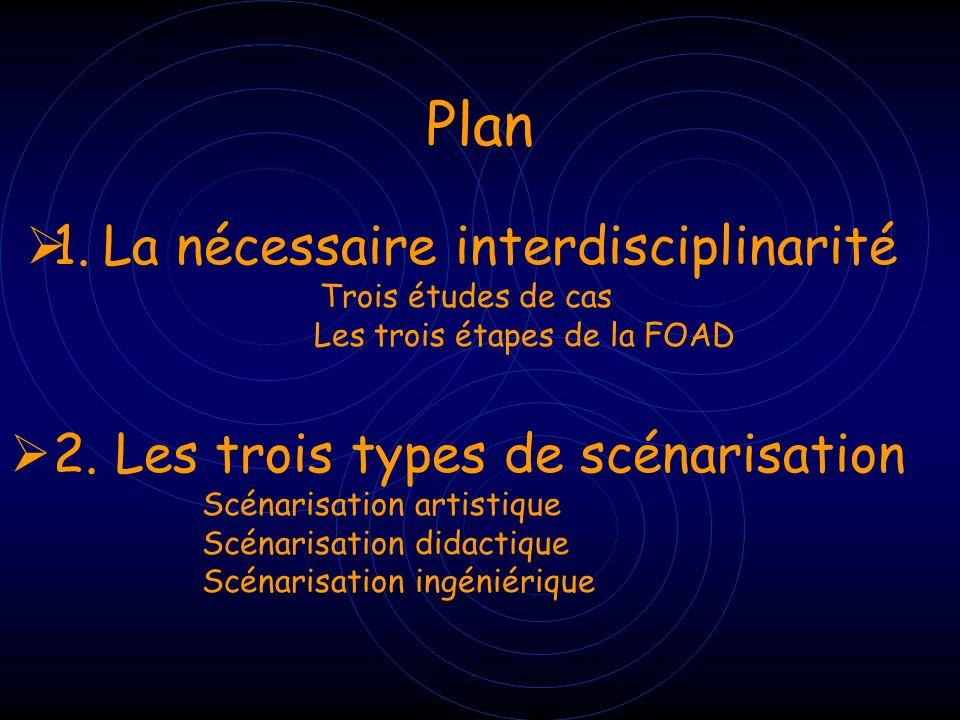 Plan 1. La nécessaire interdisciplinarité
