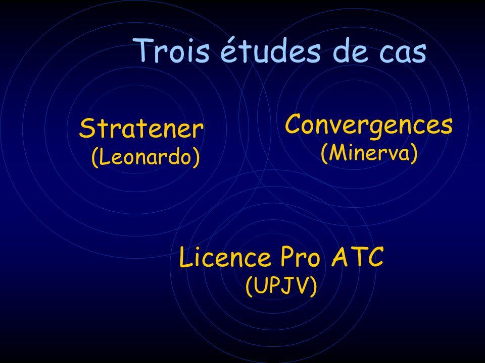 Trois études de cas Convergences Stratener Licence Pro ATC (Minerva)