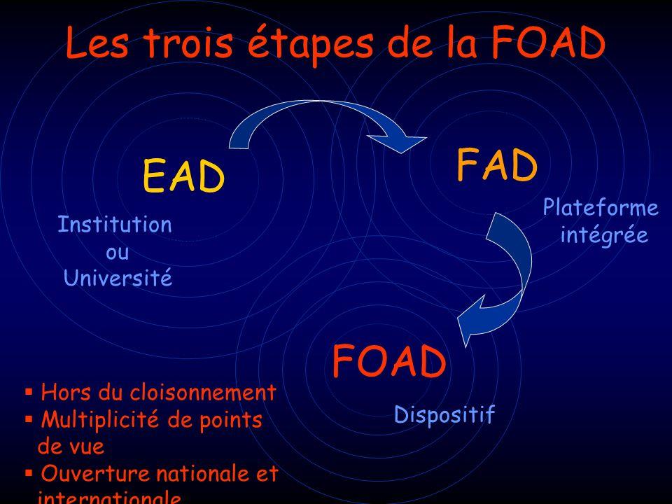Les trois étapes de la FOAD