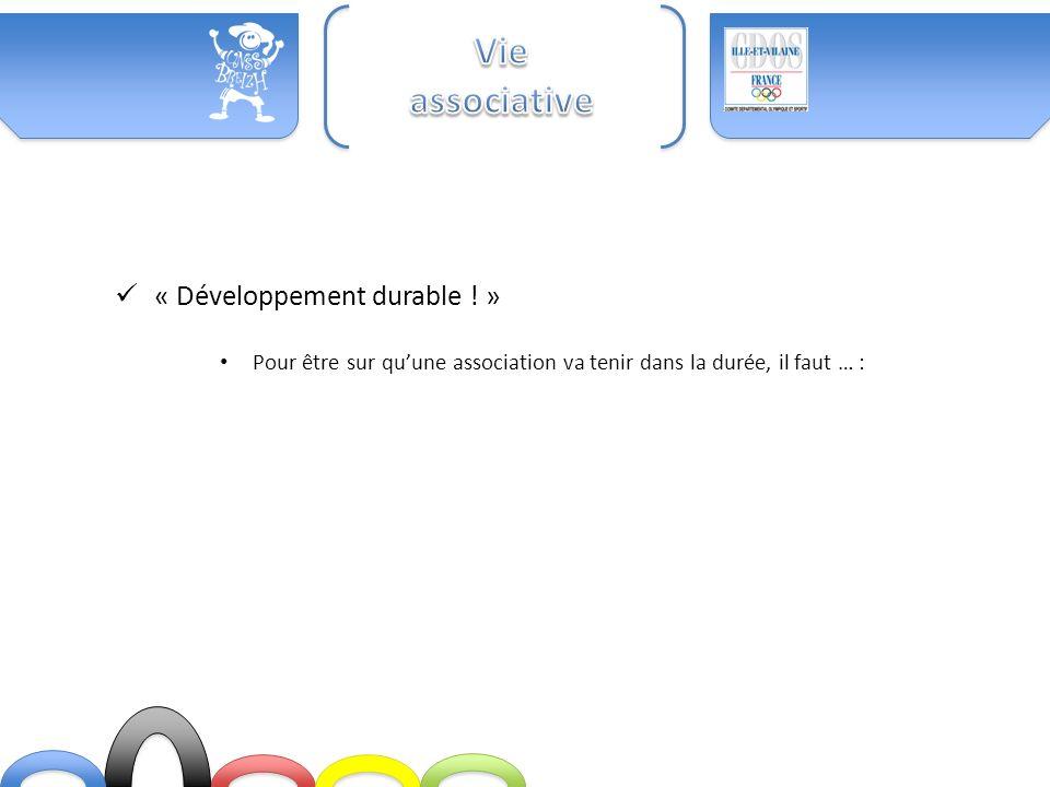 Vie associative « Développement durable ! »