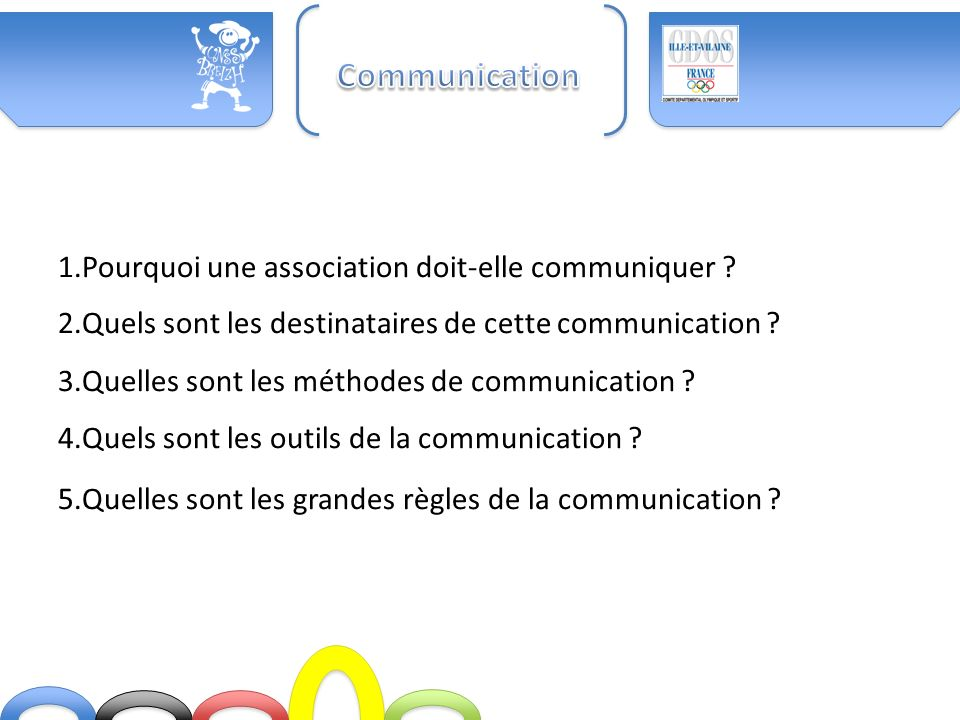 Communication 1.Pourquoi une association doit-elle communiquer
