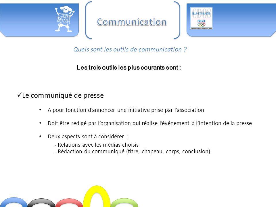 Communication Le communiqué de presse