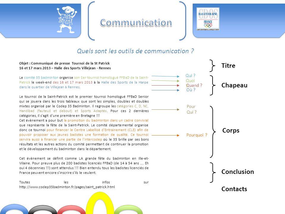 Communication Quels sont les outils de communication Titre Chapeau