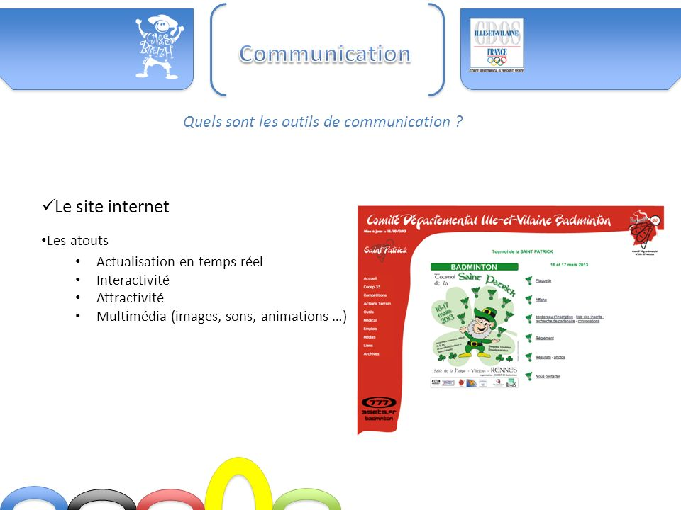 Communication Le site internet