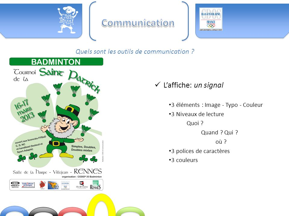 Communication L'affiche: un signal