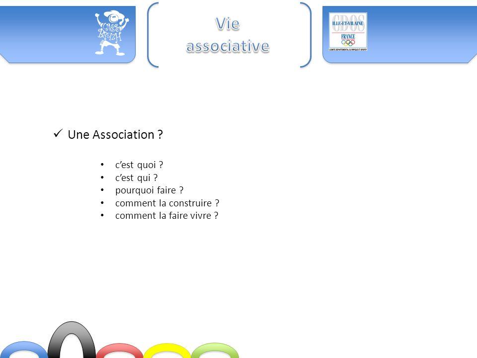 Vie associative Une Association c'est quoi c'est qui