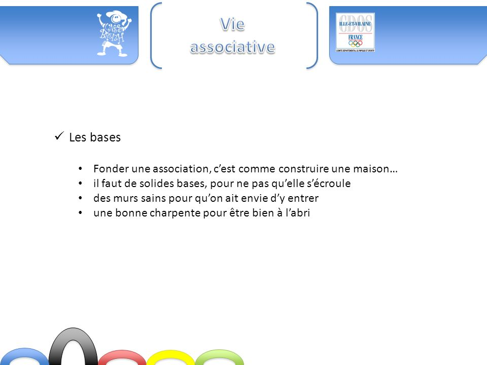 Vie associative Les bases
