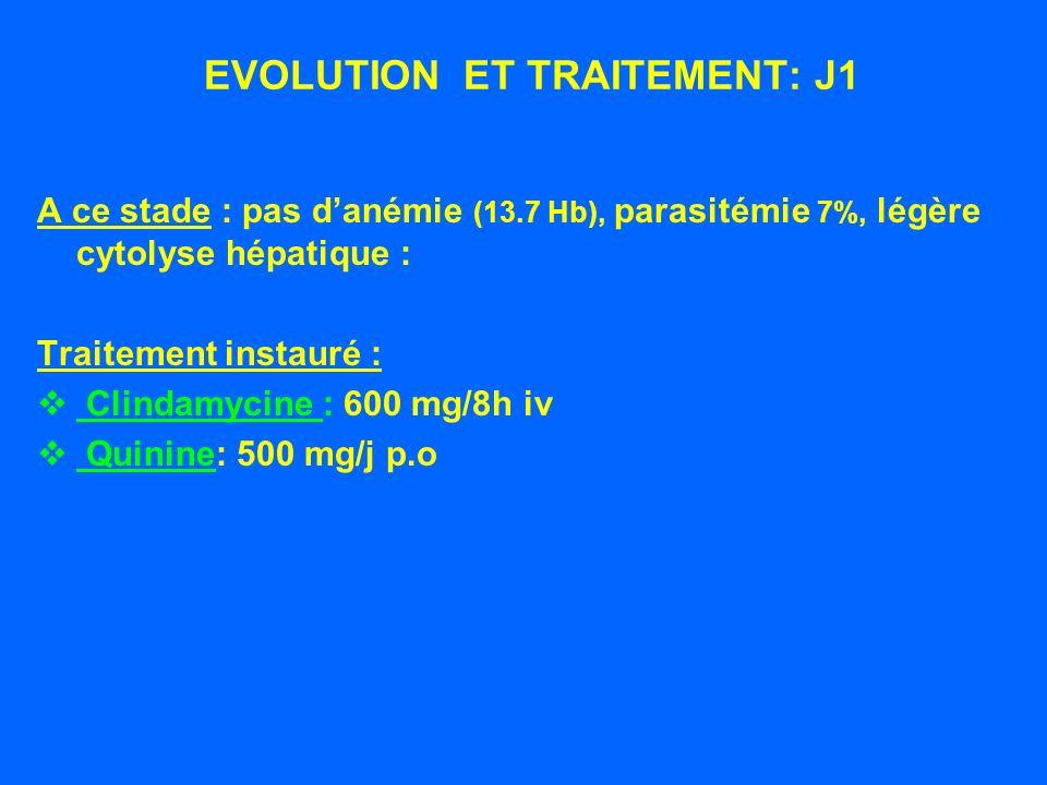 EVOLUTION ET TRAITEMENT: J1
