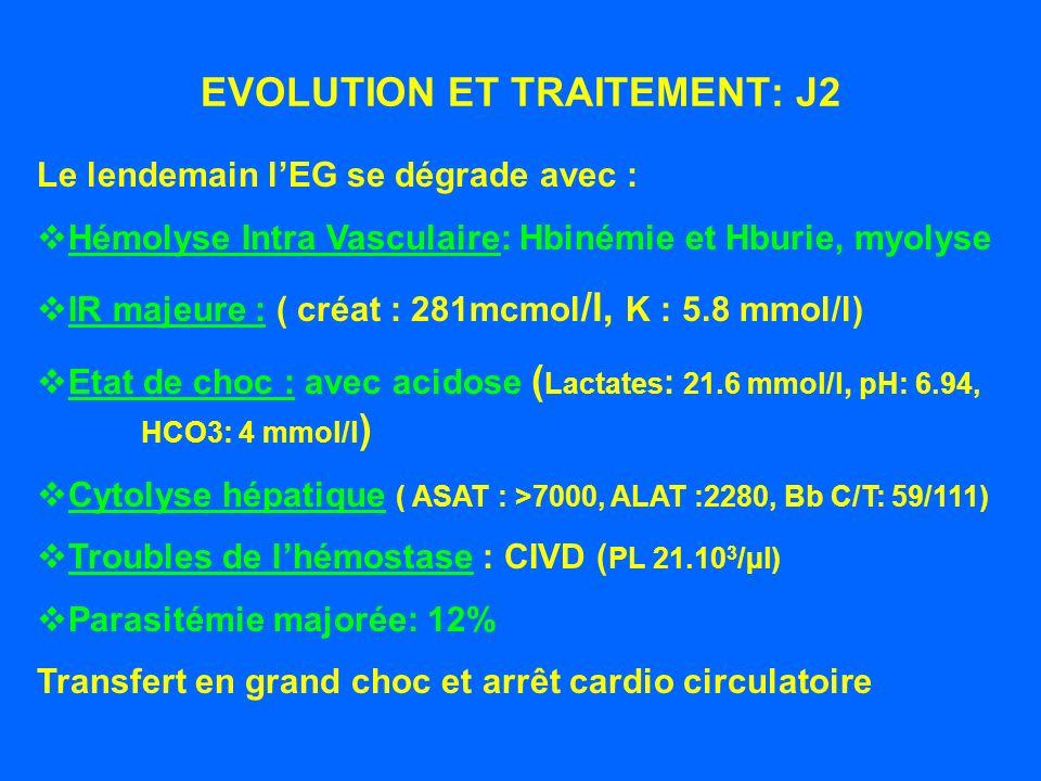 EVOLUTION ET TRAITEMENT: J2