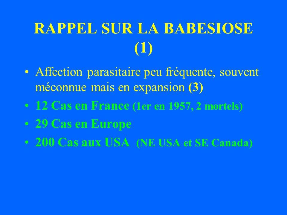 RAPPEL SUR LA BABESIOSE (1)