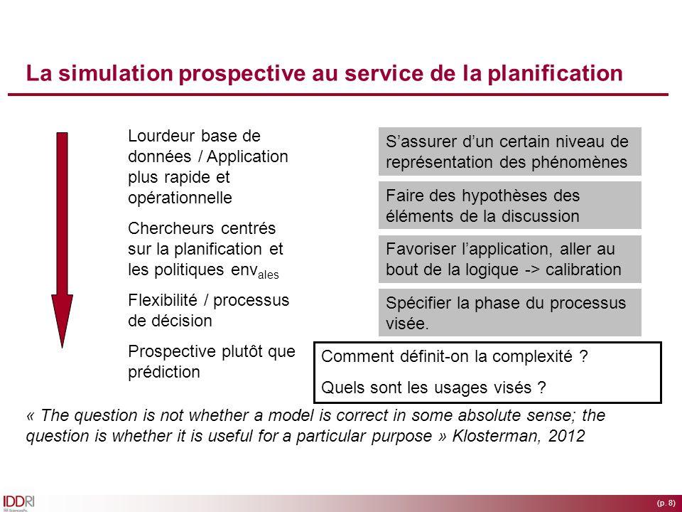 La simulation prospective au service de la planification