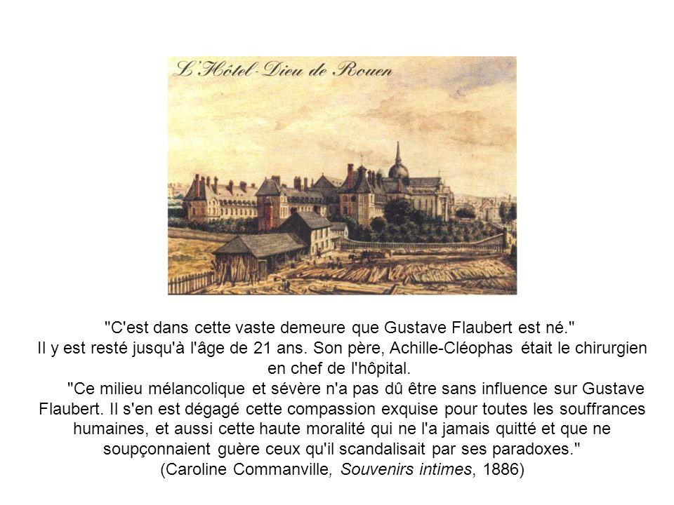 C est dans cette vaste demeure que Gustave Flaubert est né.
