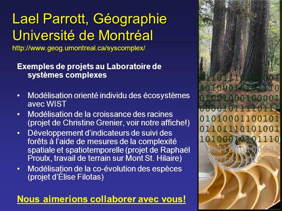Lael Parrott, Géographie Université de Montréal http://www. geog