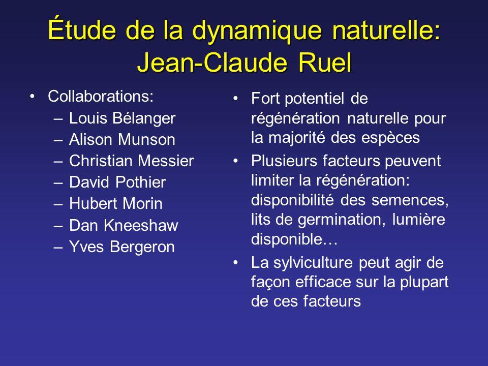 Étude de la dynamique naturelle: Jean-Claude Ruel