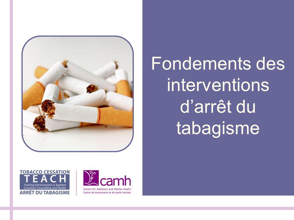 Fondements des interventions d'arrêt du tabagisme