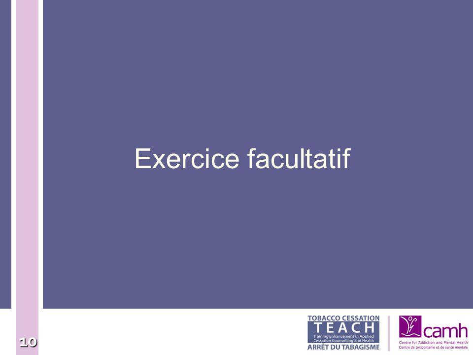 Exercice facultatif 10