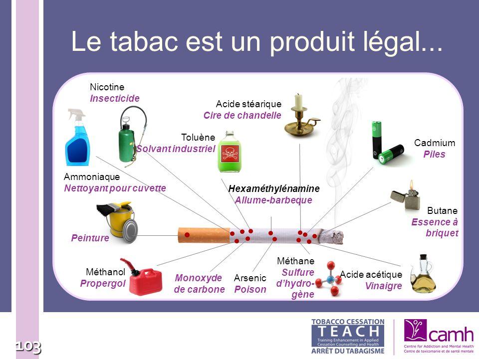 Le tabac est un produit légal...