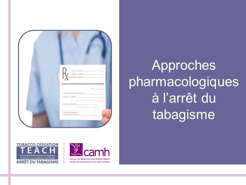 Approches pharmacologiques à l'arrêt du tabagisme