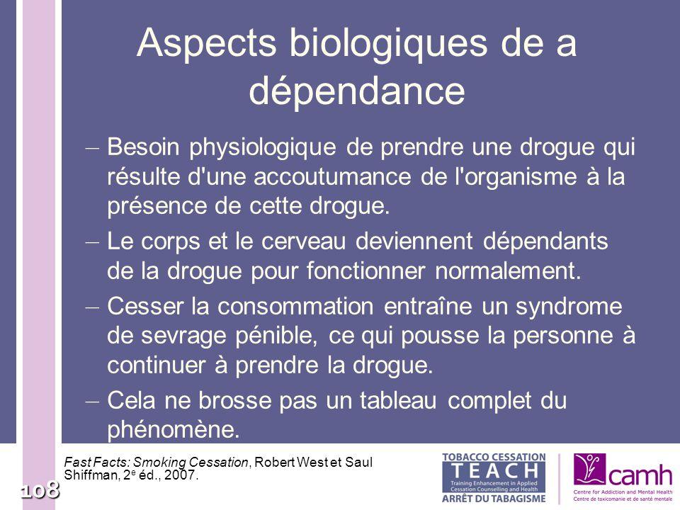 Aspects biologiques de a dépendance