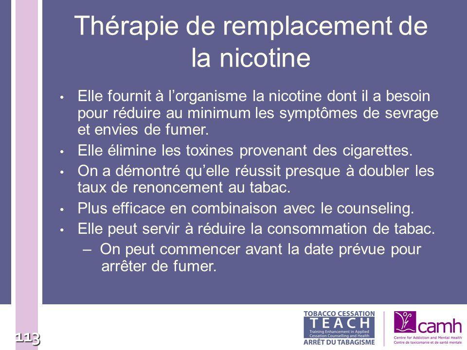 Thérapie de remplacement de la nicotine