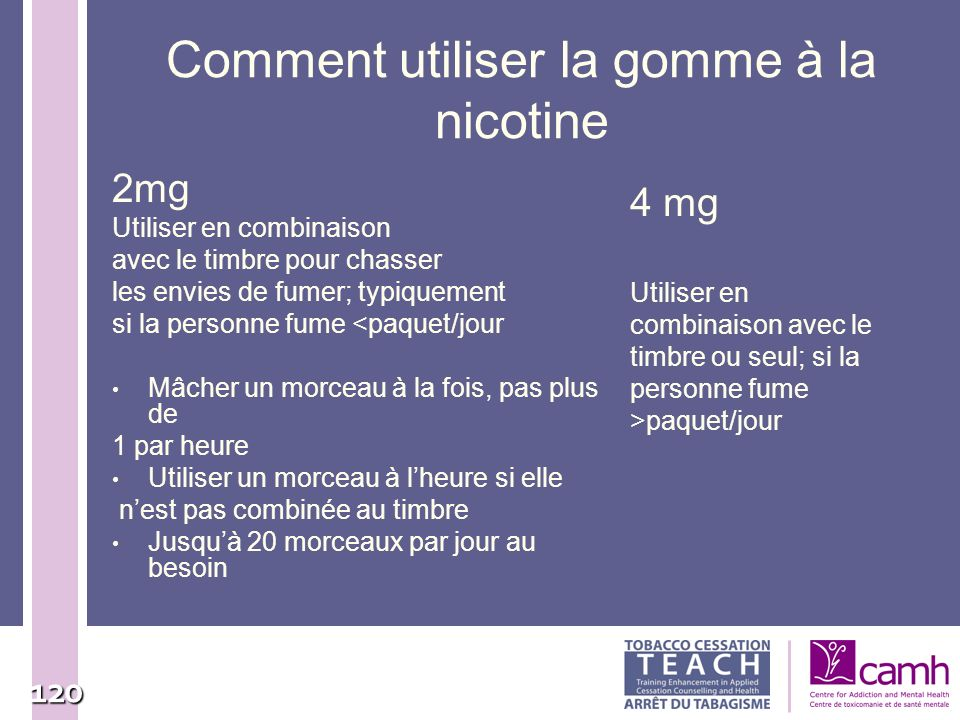 Comment utiliser la gomme à la nicotine