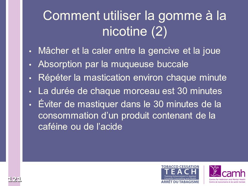 Comment utiliser la gomme à la nicotine (2)