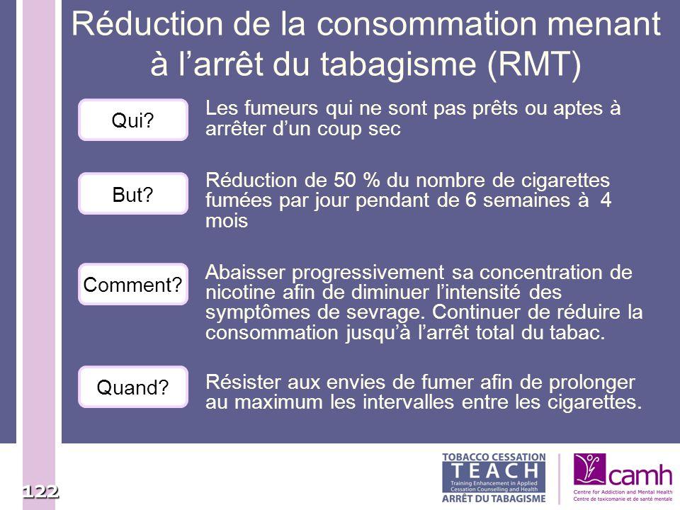Réduction de la consommation menant à l'arrêt du tabagisme (RMT)