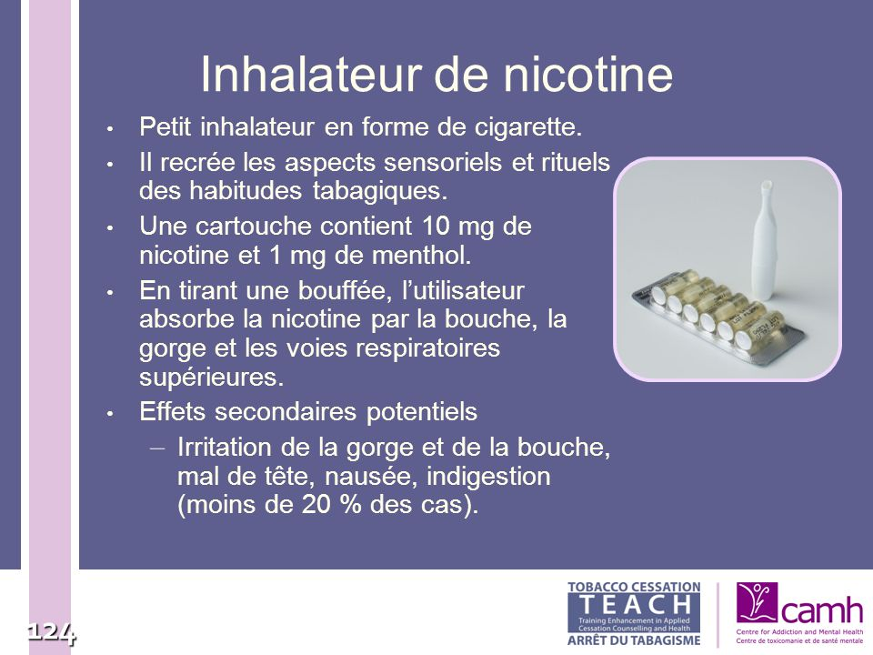 Inhalateur de nicotine