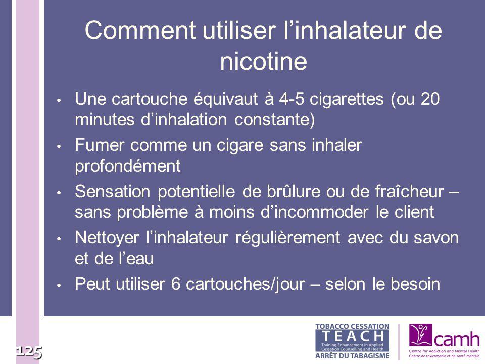 Comment utiliser l'inhalateur de nicotine