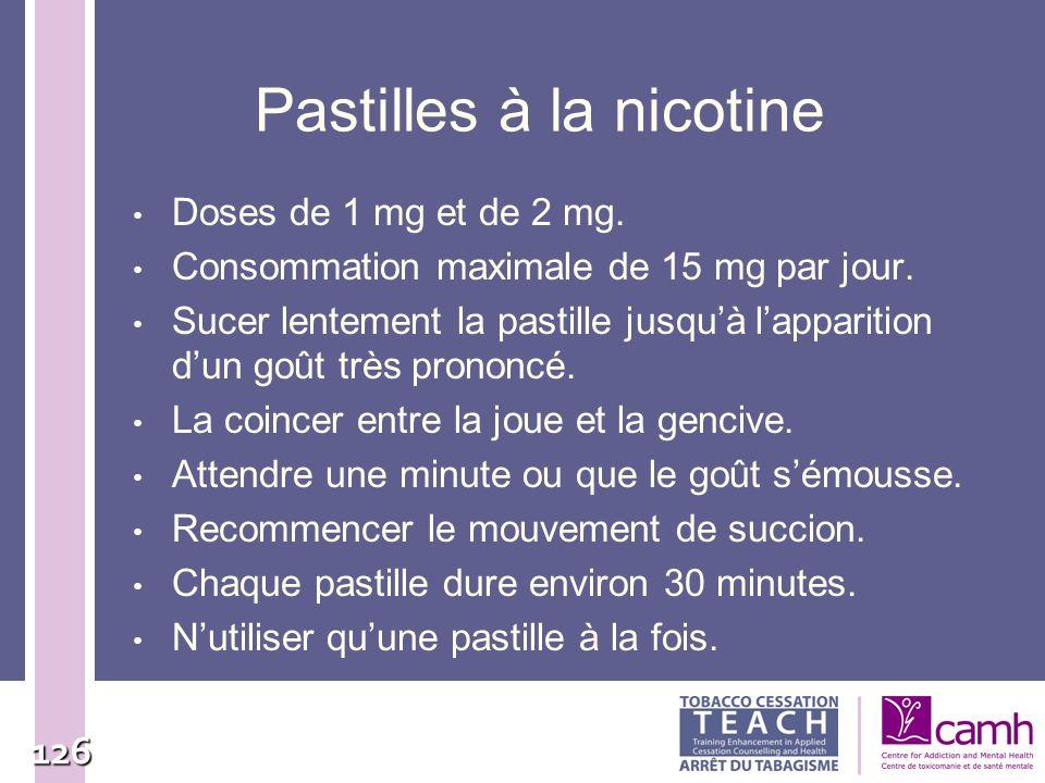 Pastilles à la nicotine