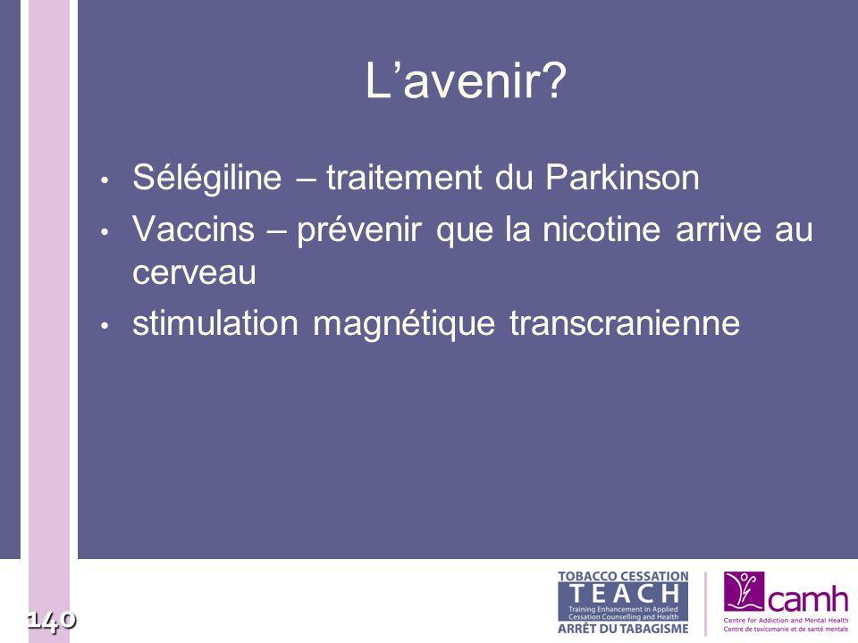 L'avenir Sélégiline – traitement du Parkinson