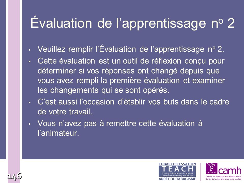 Évaluation de l'apprentissage no 2