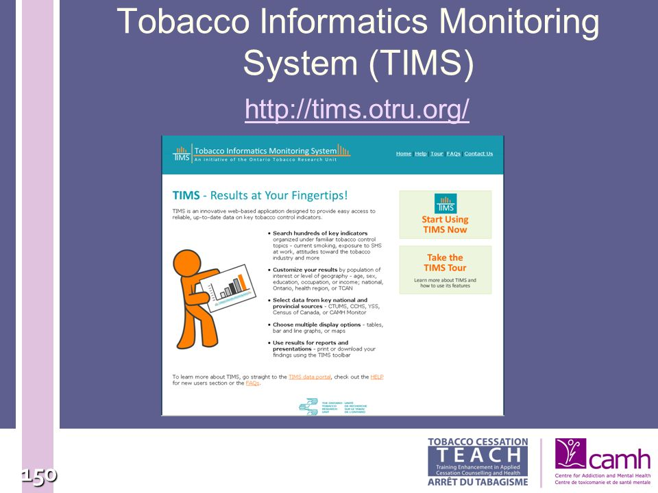 Tobacco Informatics Monitoring System (TIMS)