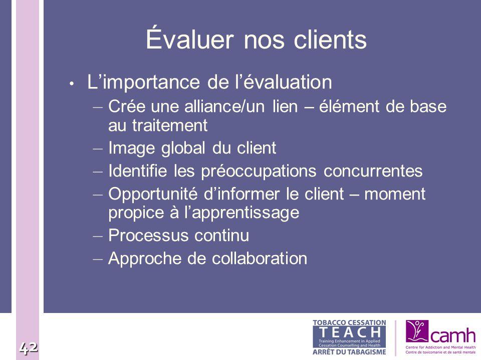 Évaluer nos clients L'importance de l'évaluation