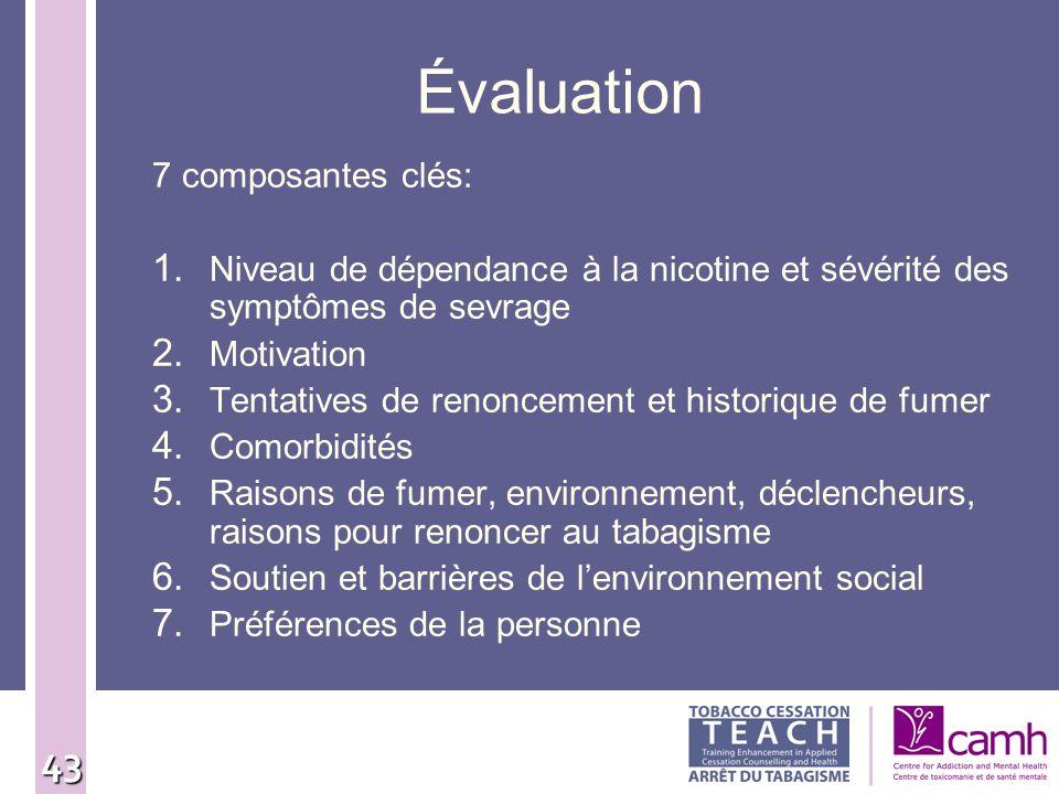 Évaluation 7 composantes clés: