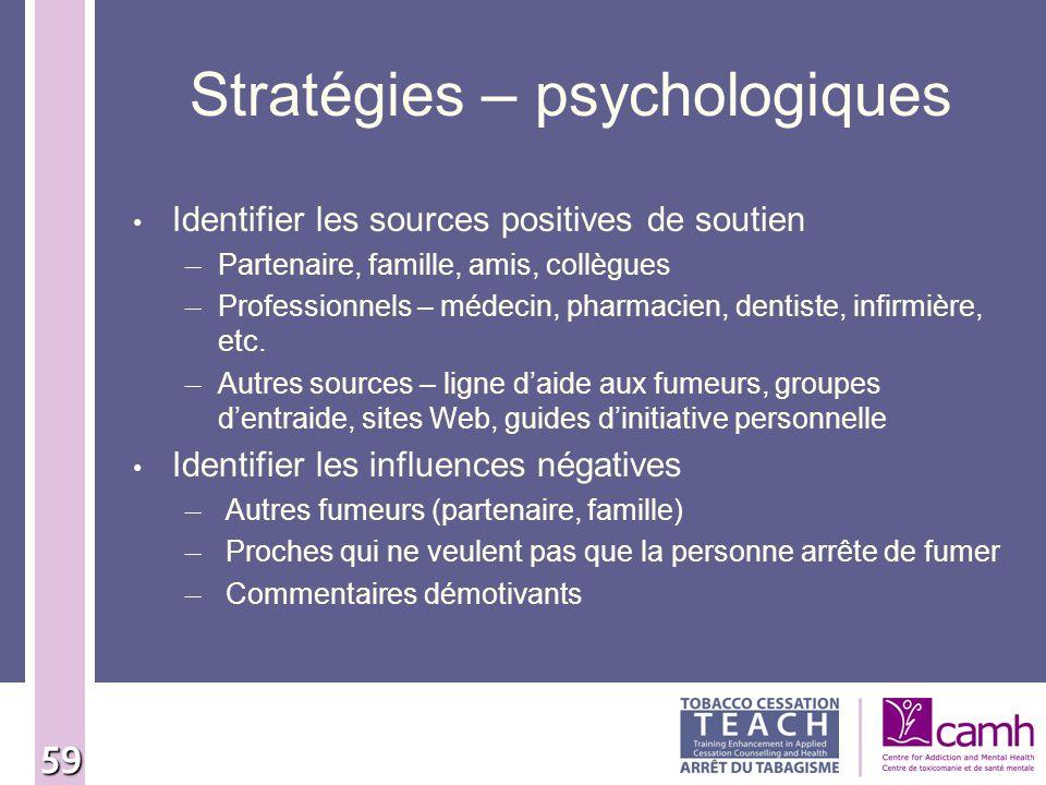 Stratégies – psychologiques
