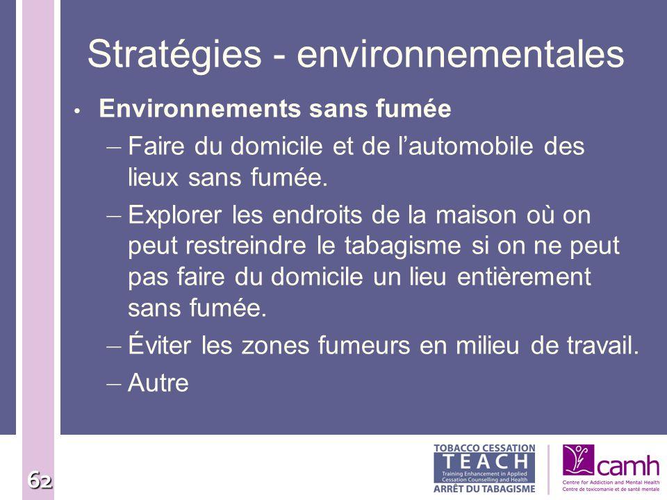 Stratégies - environnementales