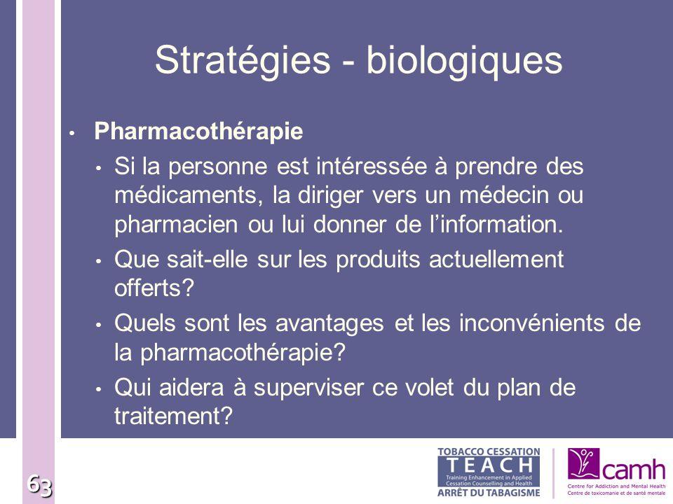 Stratégies - biologiques