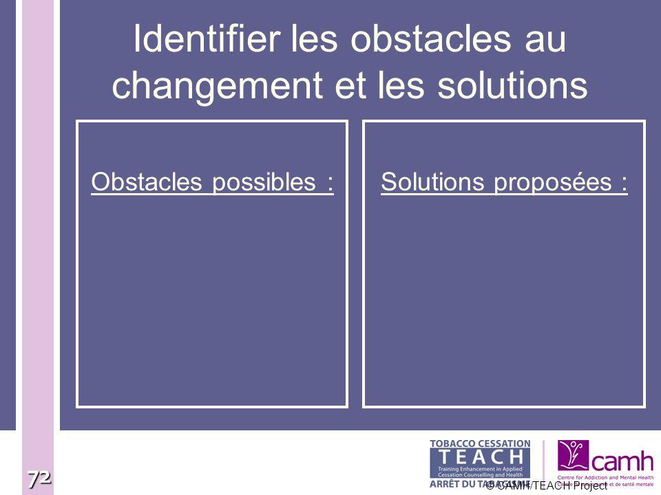Identifier les obstacles au changement et les solutions