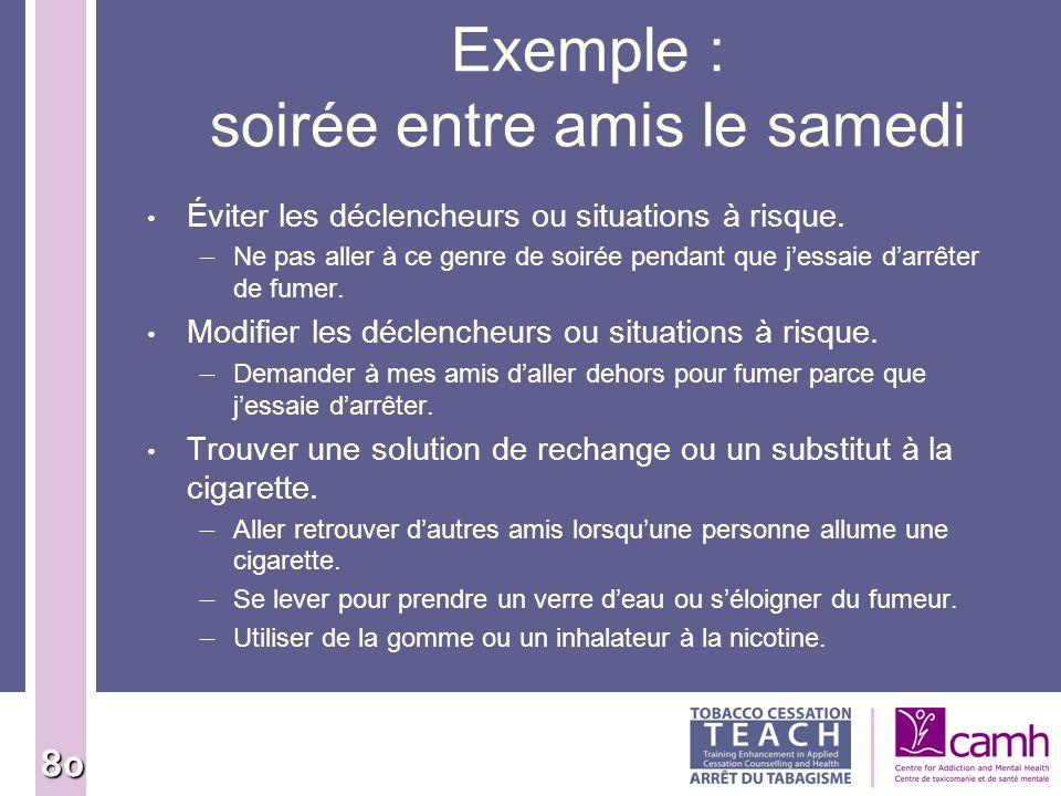Fondements des interventions d arr t du tabagisme ppt for Menu samedi soir entre amis