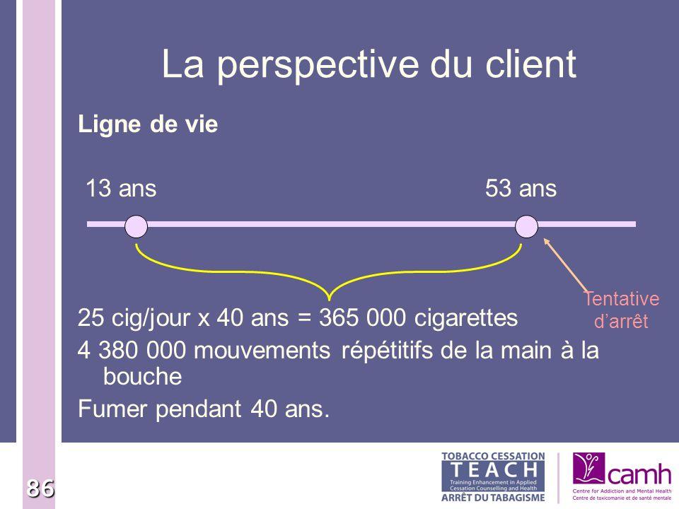 La perspective du client