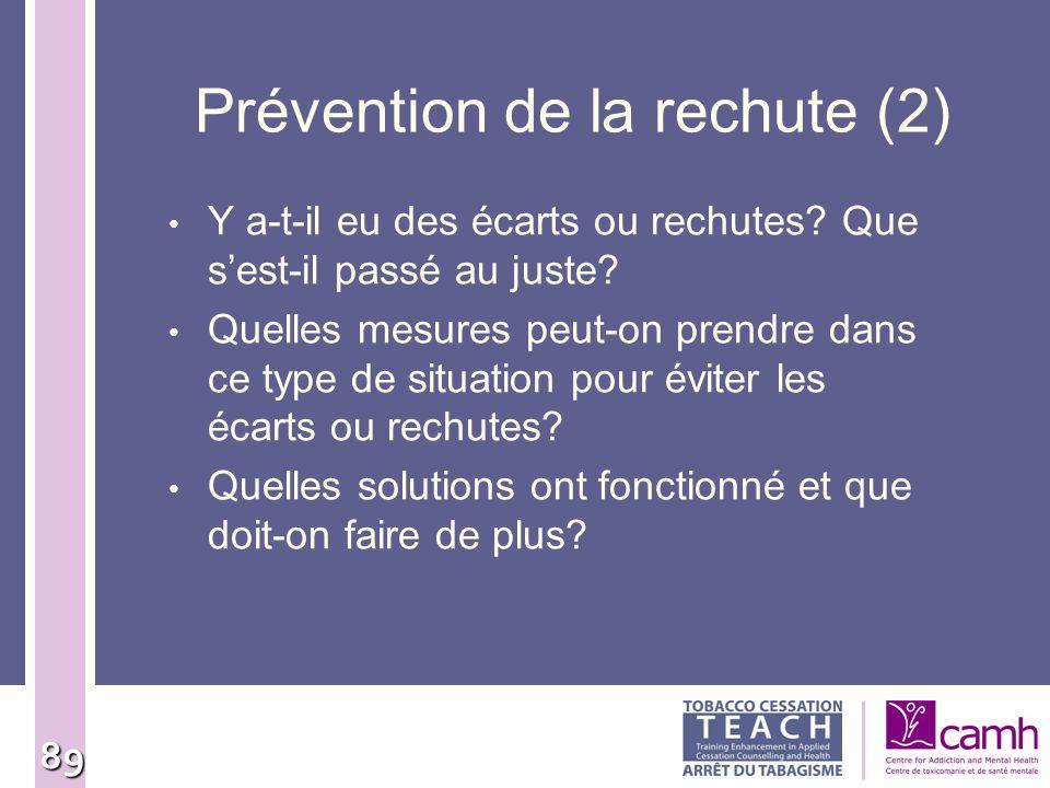 Prévention de la rechute (2)