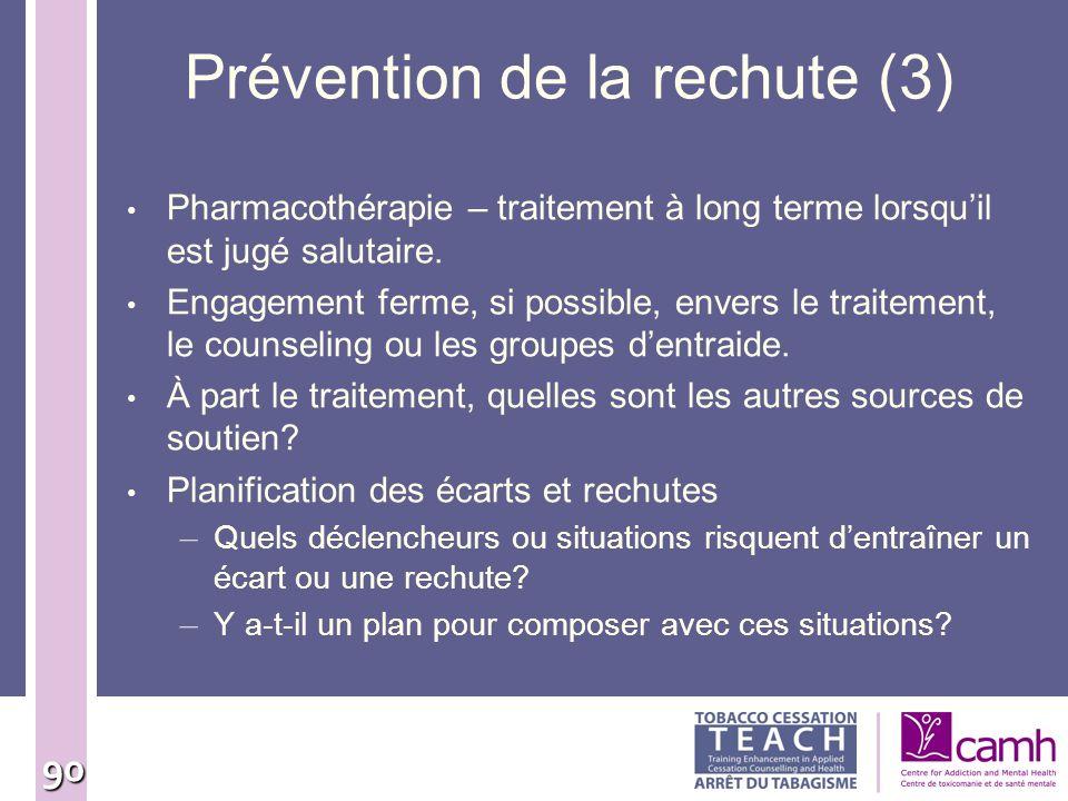 Prévention de la rechute (3)