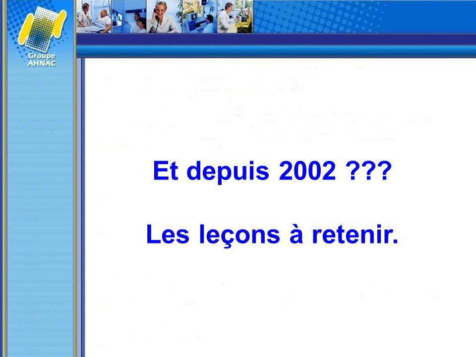 Et depuis 2002 Les leçons à retenir.