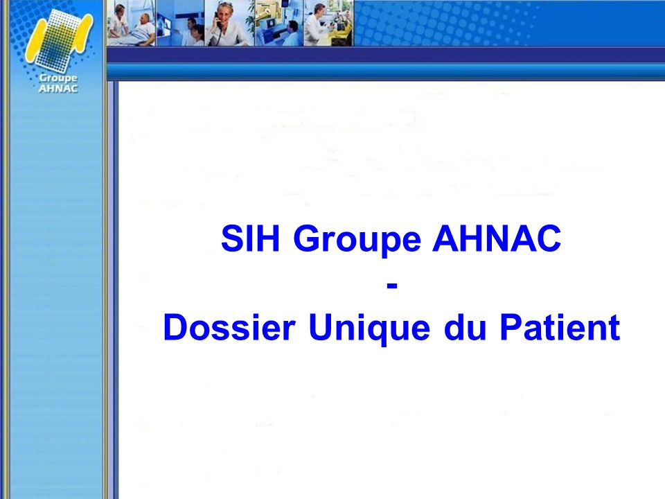 Dossier Unique du Patient