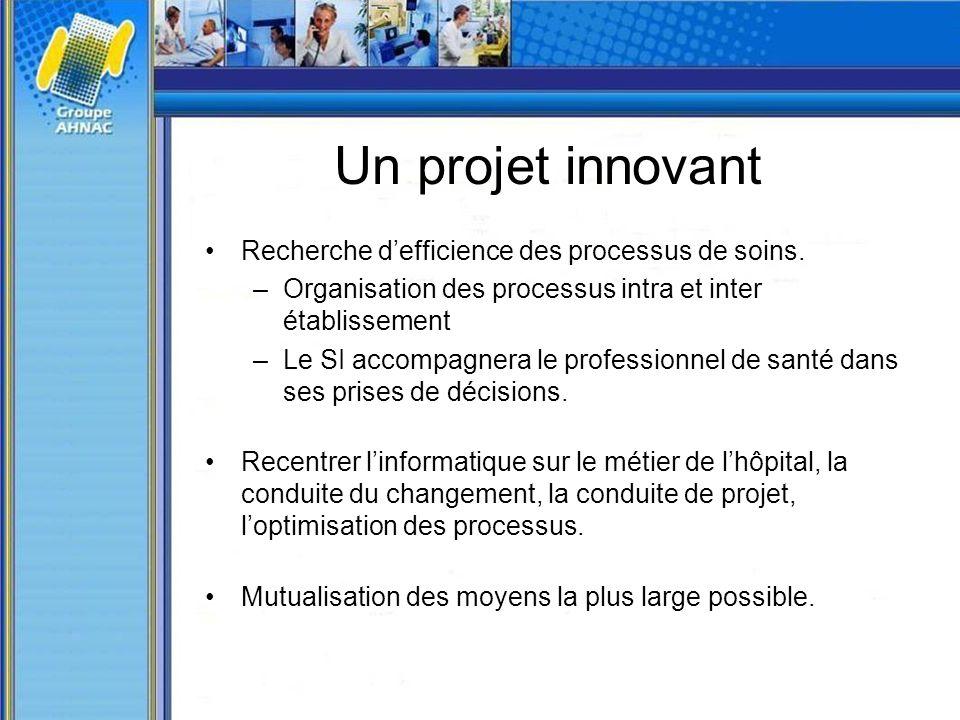 Un projet innovant Recherche d'efficience des processus de soins.